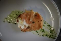 Entrèe di salmone e mozzarella di bufala